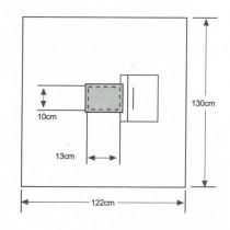 ISODrape Medium Aperture Pouch Drape, 122 x 130cm, Case/10