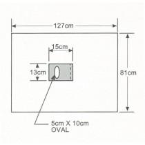 ISODrape Medium Aperture Drape, 81 x 127 cm, Case/10